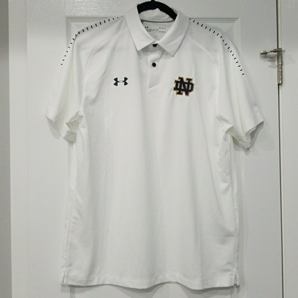 Under Armour Other - Under Armour Threadborne polo. Notre Dame. NWT